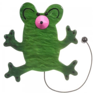 broche nez pointu vert