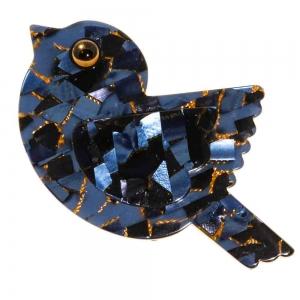 broche paloma bleu profond 1