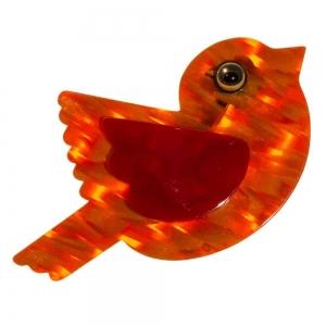 broche paloma orange 1