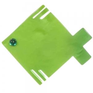 broche poisson carre vert