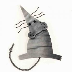 broche rat gris