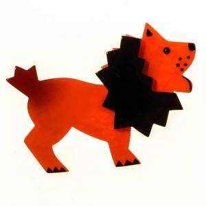 broche roi lion orange 1