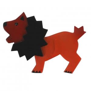 broche roi lion roux 1