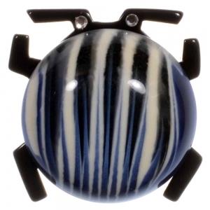 broche scarabee bleu