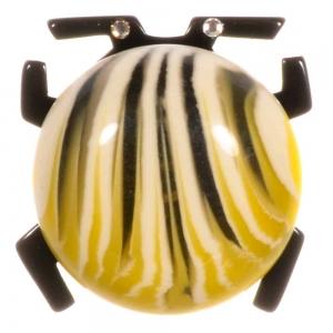 broche scarabee jaune