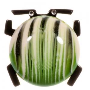 broche scarabee vert