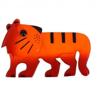 broche tigredou orange