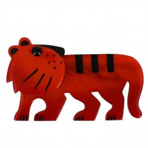 broche tigredou roux