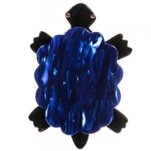broche tortue bleue