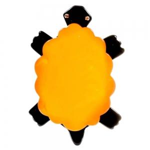 broche tortue jaune