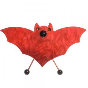 broche vampire rouge nacre