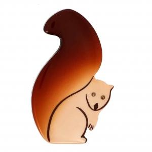 broches hors séries broche ecureuil ivoire caramel