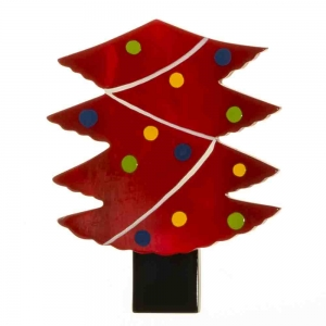 broches noël sapin guirlandes rouge