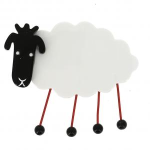 broche mouton blanc