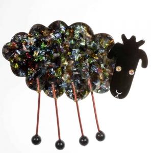 broche mouton brillant
