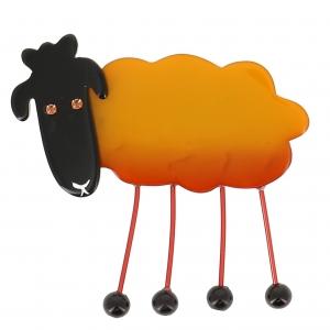 broche mouton jaune