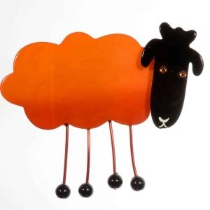 broche mouton orange