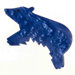 broche ours canada bleu