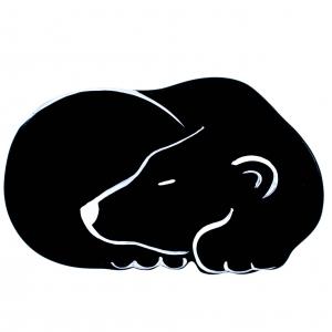 broche ours endormi noir 1