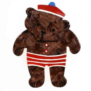 broche teddy brun