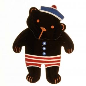 broche teddy noir