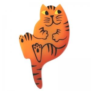 broche chat b7 orange