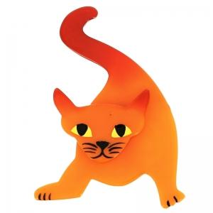 broche chat mephisto orange