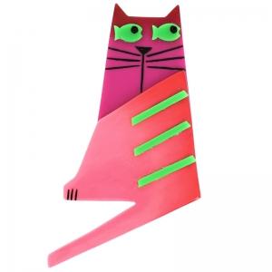 broche chat nono fuchsia