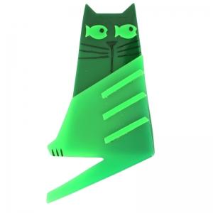 broche chat nono vert