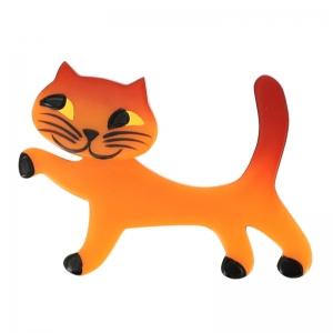 broche chat titi orange 1