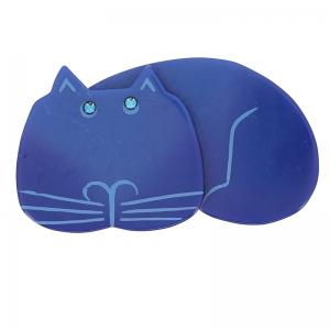 broche chat tommy bleu