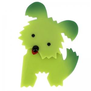 broche chien bobby anis