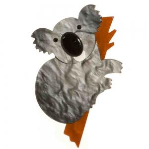 broche koala gris