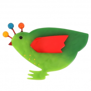 broche poule vert clair