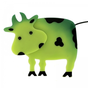 broche vache profil anis
