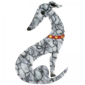 Chien Levrier gris marbre