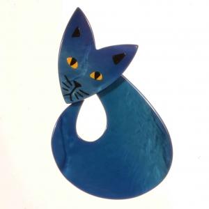broche Fenec bleu