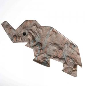 broche elephant pablo agate 1