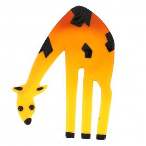 broche giraffe jaune safran