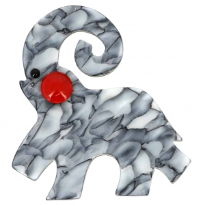 broche hannibal gris marbre