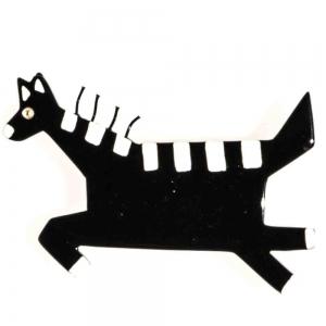 broche zebre crins noir