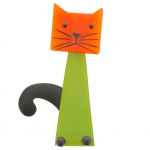 chat cafetiere anis orange