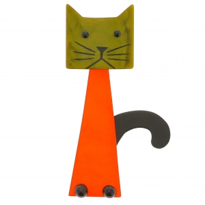 chat cafetiere orange vert mouse