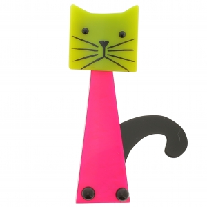 chat cafetiere rose vif anis