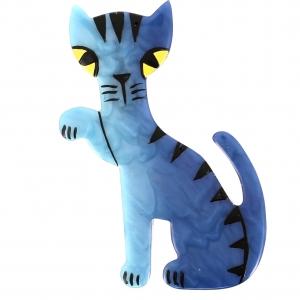 Broche Chat Calinou bleu