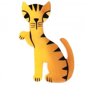 Broche Chat Calinou jaune