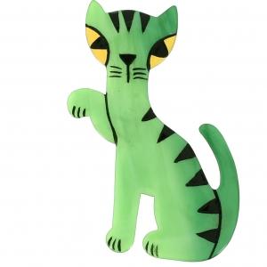 Broche Chat Calinou vert