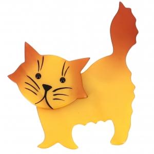 Broche Chat Fripon jaune