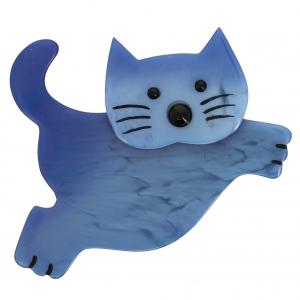Chat Bondissant bleu