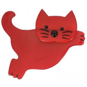 Chat Bondissant rouge